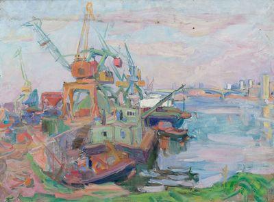 At the Port. Industrial Landscape. Inna Mednikova