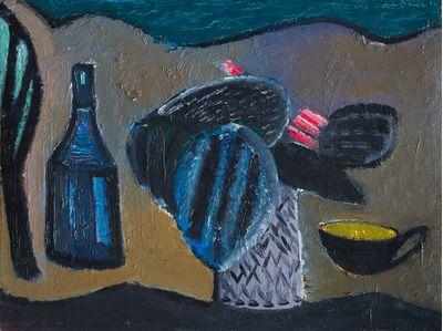 Still life with a black cup. Ruben Apresyan