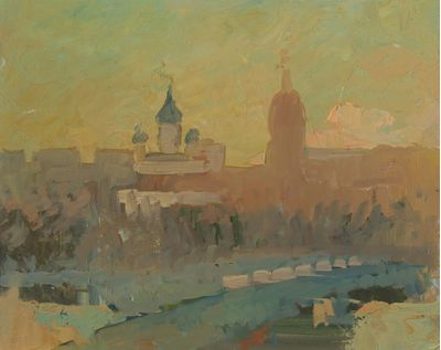 Sunrise in Moscow. Dmitry Khamin