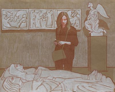 In Museum. 2. Elena Novozhenina