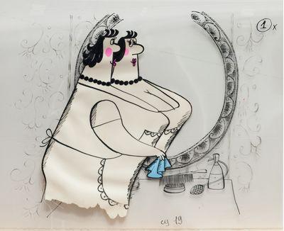 Кадр из мультипликационного фильма «Мелочи жизни» (реж. В. Караваев). Галина Караваева