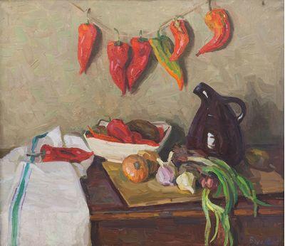 Натюрморт с перцами. Надежда Воробьева