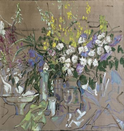 Flowers and Dishes. Natalia Konovalova