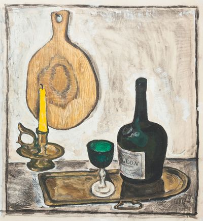 Still Life with Green Glass.Stekolschikov Vyacheslav