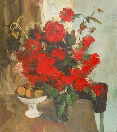 Red Dahlias. Tatiana Konovalova-Kovrigina