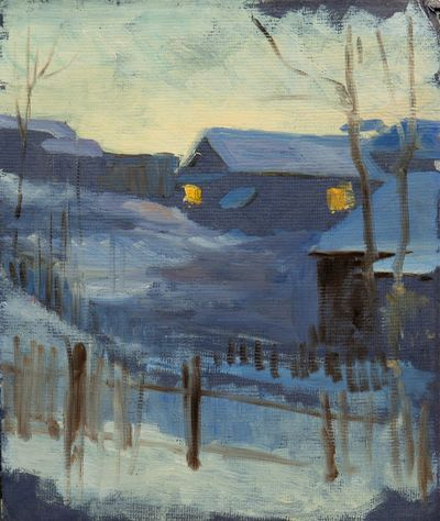 Winter Sunset. Evgeny Bitkin