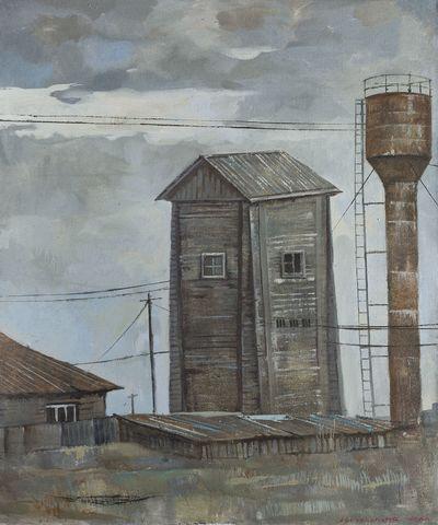 Gray hut. Elena Novozhenina