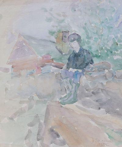 Boy with a Cat. Inna Mednikova