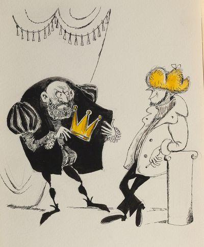 Г. и В. Караваевы. Золотая корона. Карикатура