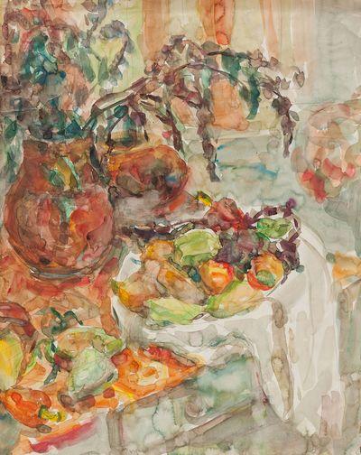 Still life with peppers. Inna Mednikova