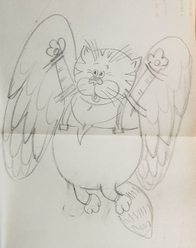 Персонаж «Кот». К м/ф «Возвращение блудного попугая». Валентин Караваев
