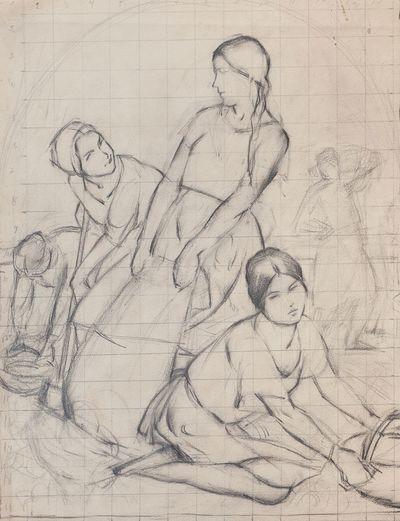 Washing. Sketch of painting. Aleksey Kolosov