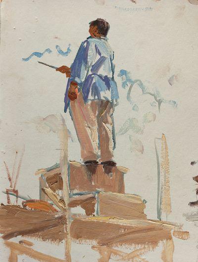 "Restorer. Study from the series ""Restoration of Stalingrad"". Larisa Chorbadze"
