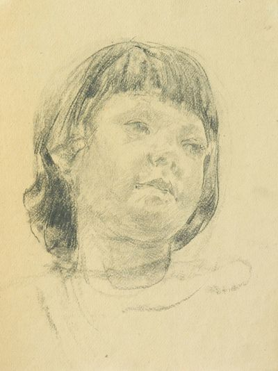 Girl. Sketch to the Painting. Viktor Konovalov