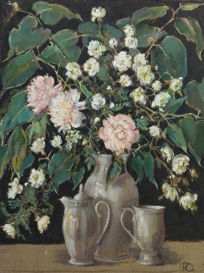 Rosehip, Peonies and Cookware. Natalia Konovalova