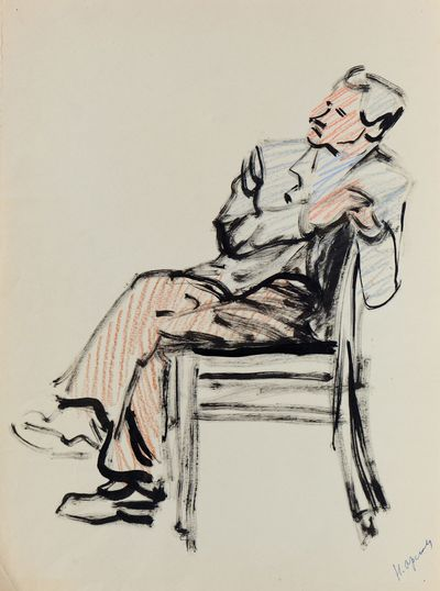 Man on a Chair. Natalia Orlova