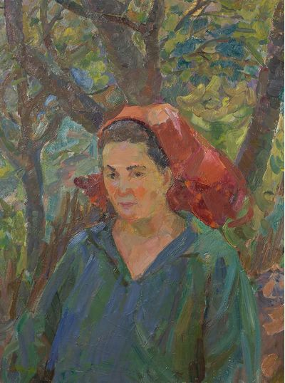 Женщина в красной косынке. Инна Медникова