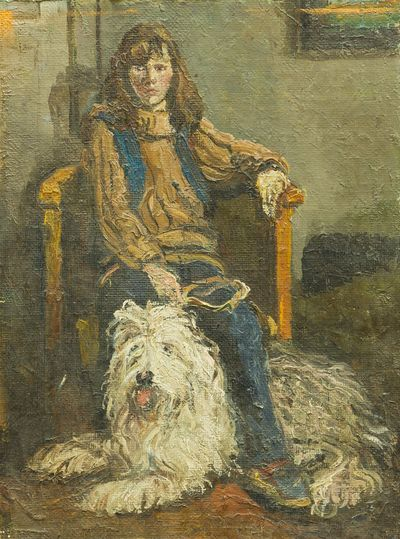 Girl with a Dog. Dmitry Khamin