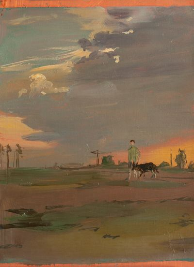A Walk with a dog. Vassily Minyaev