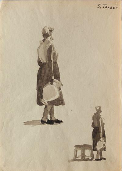 The figure of a woman. Sketch. Berta Taller