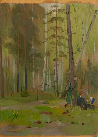 On plein-air. Vassily Minyaev