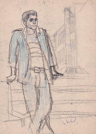 Man in Blue Suit. Inna Mednikova