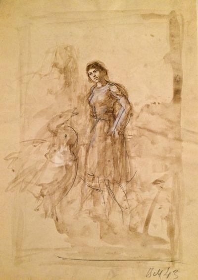 Sketch of painting. Vassily Minyaev