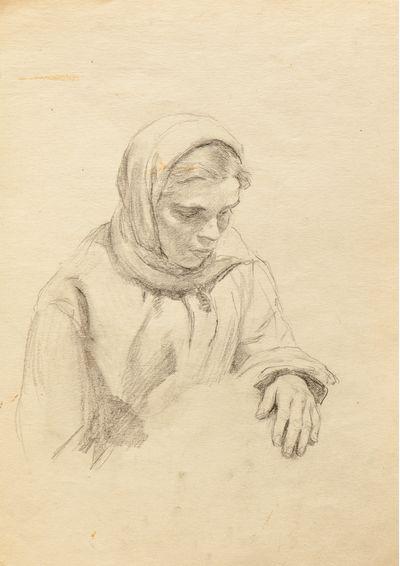 A Girl. Sketch. Evgeny Rastorguev