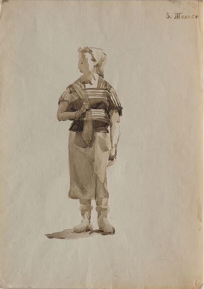 Sailor woman. Sketch. Berta Taller