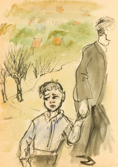 Frightened Boy. Natalia Orlova