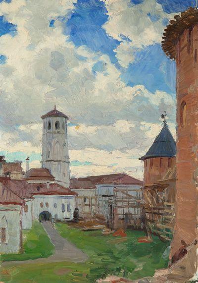 Velikiy Novgorod. St.Euthimius' Clock Tower in Kremlin. Evgeny Bitkin
