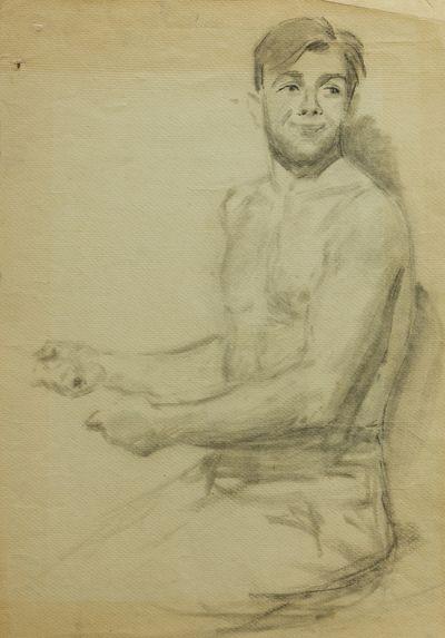 Young Man. Sketch. Viktor Konovalov