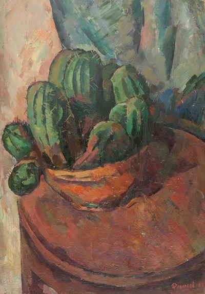 Still life with cactus. Oleg Filippov