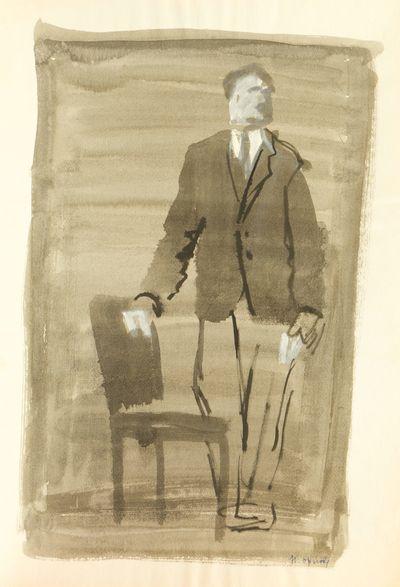 Man near a Chair. Natalia Orlova