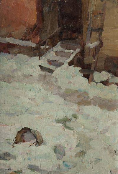 Winter Yard. Sketch. Evgeny Rastorguev