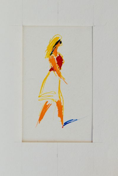 Sketch of a Girl. Evsey Reshin