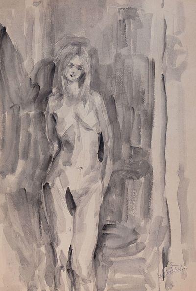 A Model. Sketch. Inna Mednikova
