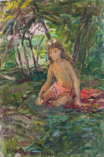 Девочка в саду. Татьяна Коновалова-Ковригина