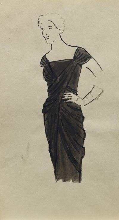 A Woman in Black Dress. Costume Design. Tamara Guseva