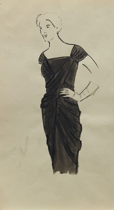 A Woman in Black Dress. Costume Design. Tamara Guseva